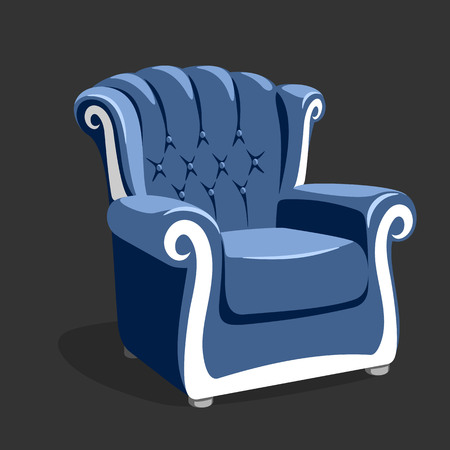 leather armchair: Riverside leather armchair. Classic armchair vector illustration Stock Photo