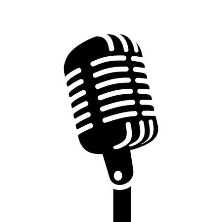 Retro microphone sign  illustration Иллюстрация
