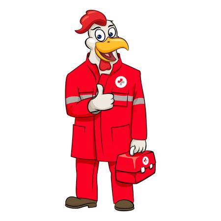 Rooser paramedic thumb up vector illustration Vektorové ilustrace