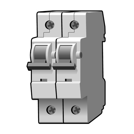 Gegoten koffer stroomonderbreker Vector Illustratie