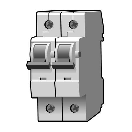 overload: Molded case circuit breaker Illustration