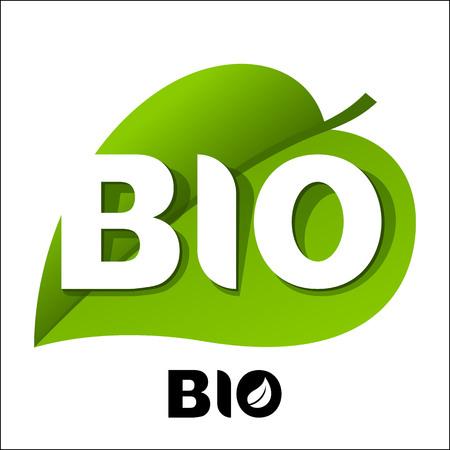 BIO leaf emblem Иллюстрация