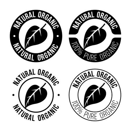Natural organic emblem 向量圖像
