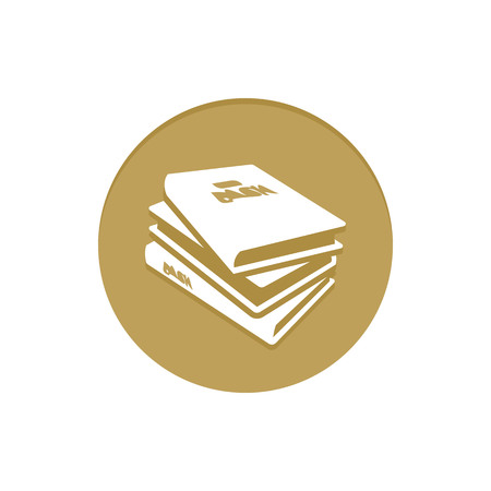 notebook cover: Gold Vector Icon Books. Golden web icons collection item. Icon symbo vector illustration Illustration