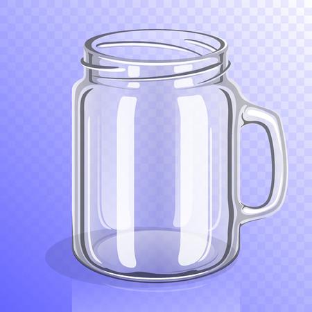 Lege glazen pot met handvat Stock Illustratie