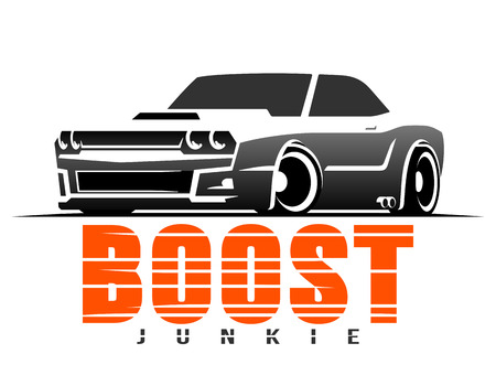 Boost muscle car t-shirt graphics