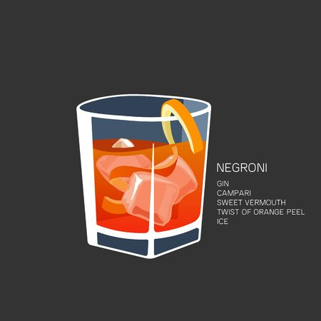 alcoholic cocktail vector illustration isolated black background