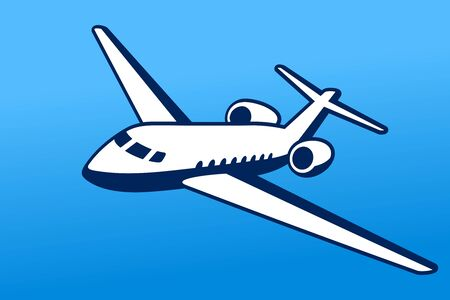 Aircraft airplane airline logo label sign vector illustration  イラスト・ベクター素材