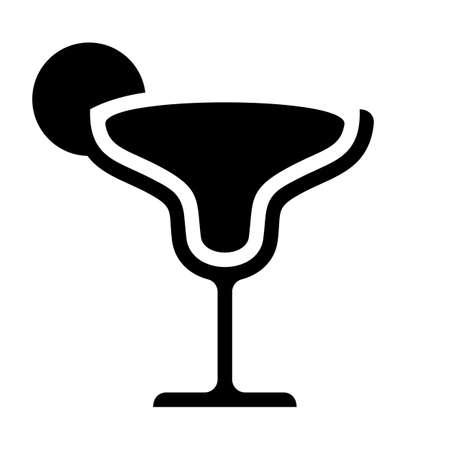 Margarita cocktail lime lemon slice black icon vector