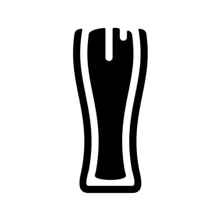 Beer glass foam black sign icon vector illustration