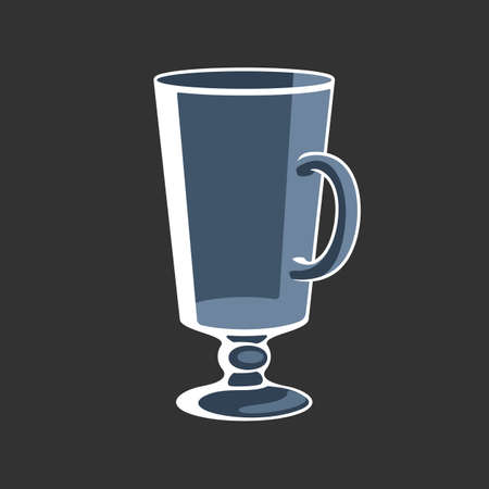 Irish Coffee cocktail drink glass empty vector illustration