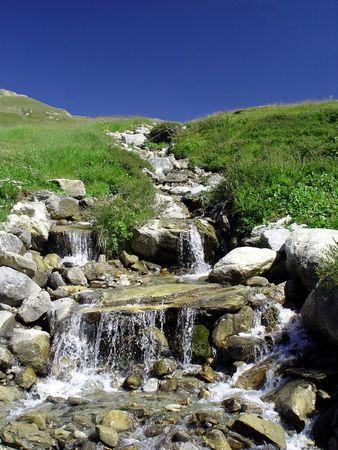 cours d eau: Leau paisible de montagne