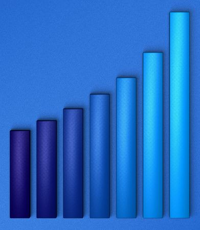 Chart growing up, blue on blue Stock Photo - 278195