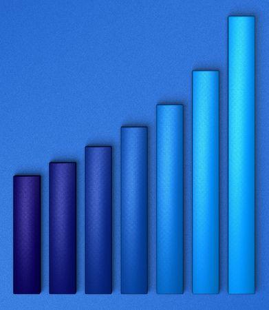 iniciativas: Gr�fico de crecimiento, azul sobre azul