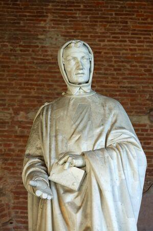 monumental cemetery: Statue of Fibonacci in Pisas monumental cemetery Stock Photo