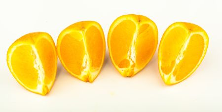 Ripe juicy fruit on a white background. Cut Out photo