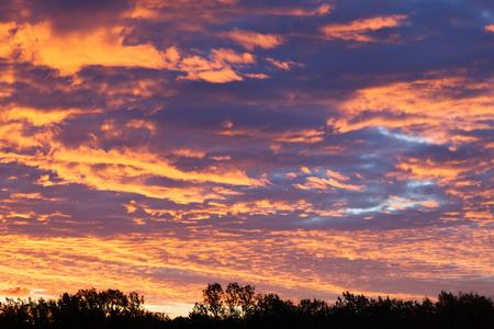 Heavenly landscape with beautiful cumulus clouds.