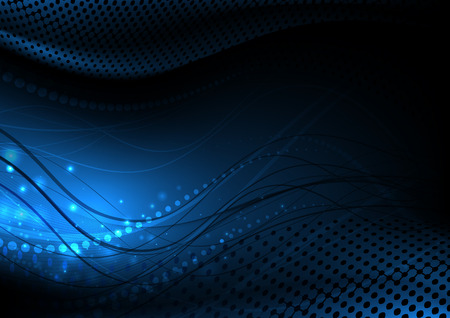modrý: Tmavě abstrakce