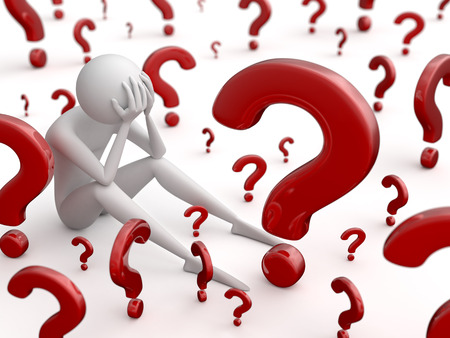 hombre pensando: Preguntas