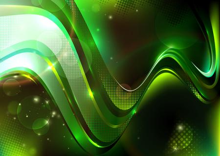 neon color: Wavy  background Illustration
