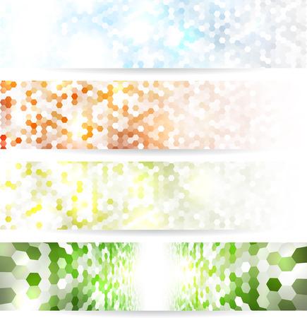 Mosaic banners Illustration