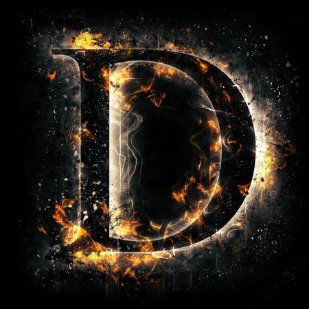letters of the alphabet: Fire letter D