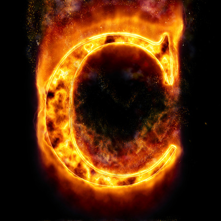 letter c: Fire letter C