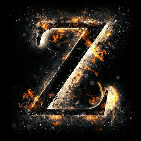 black light: Fire letter Z