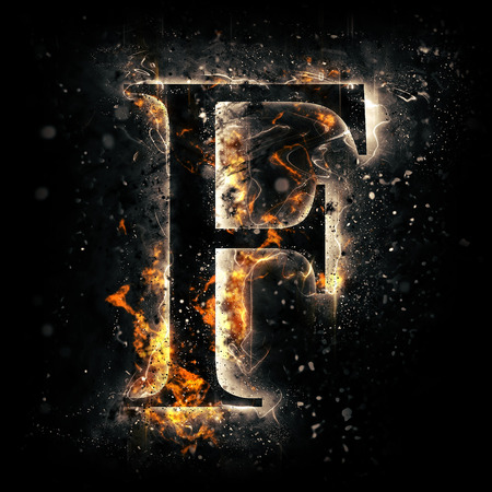 Fire letter F Standard-Bild - 44912650