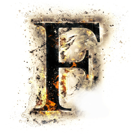 Fire letter F