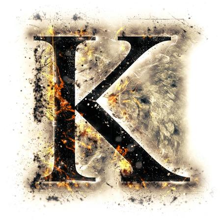 火文字 K 写真素材 - 44912652