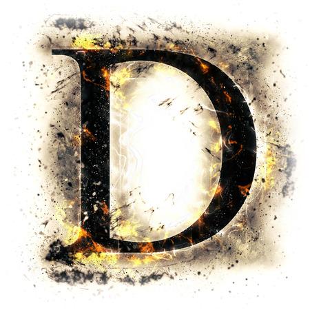 llamas de fuego: Carta de fuego D