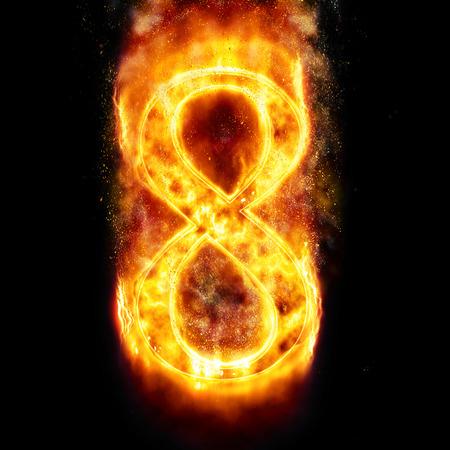 digit 8: Fire digit 8