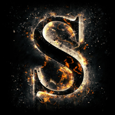abstract letters: Fire letter S