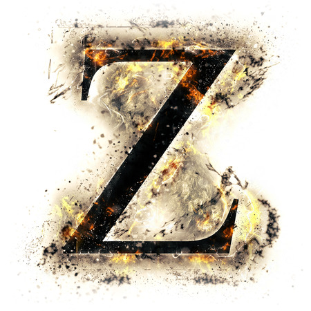 letter z: Fire letter Z