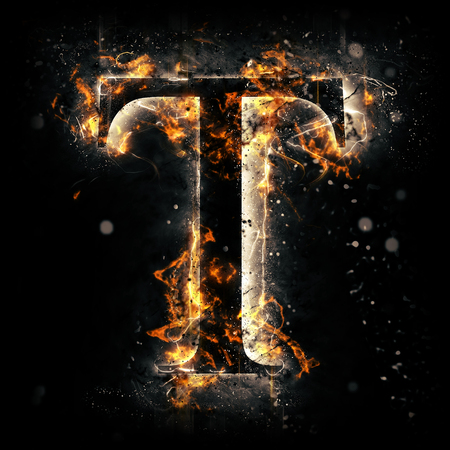Fire letter T