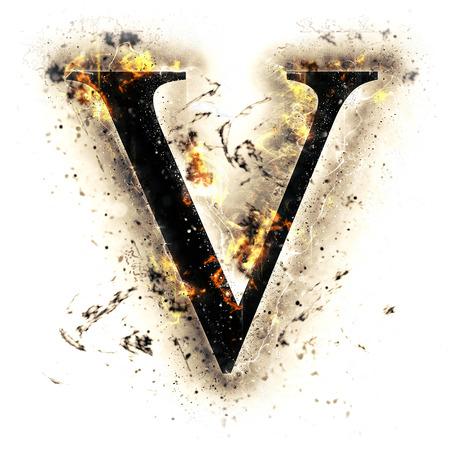 Fire letter V
