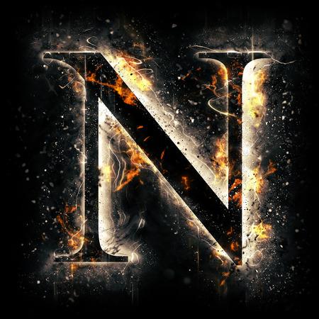 Fire letter N