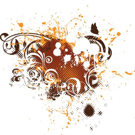 floral grunge: Grunge floral element Illustration