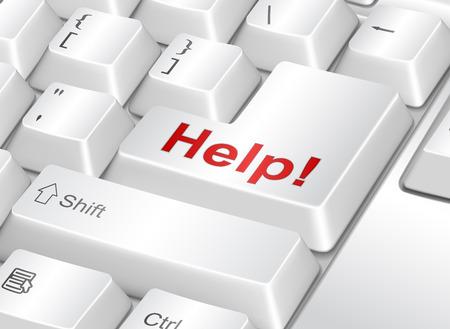 interrogative: Tecla de ayuda Vectores