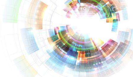 circulos concentricos: Abstracción Colorfull Vectores