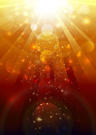 Gold light  イラスト・ベクター素材