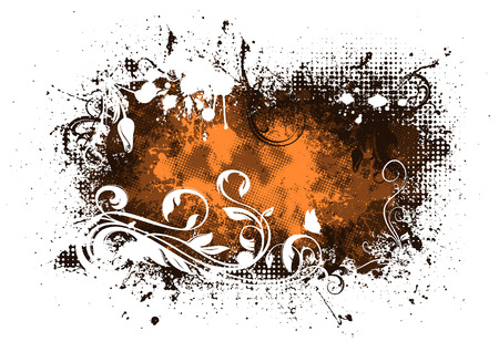 splatter paint: Grunge composition