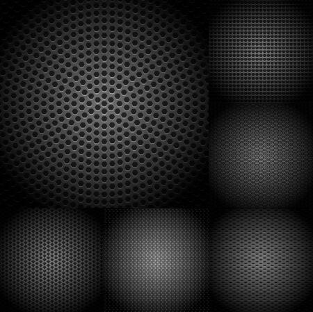 metallic: Set of dark metallic textures