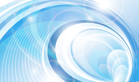 abstract art background: Blue lines Illustration