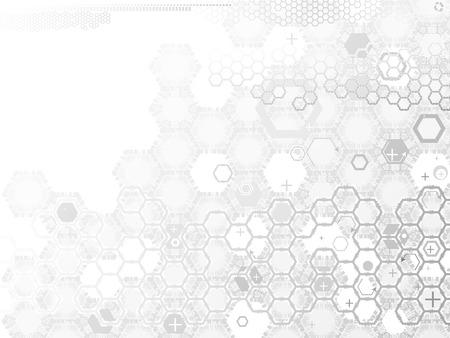 zeshoek abstractie