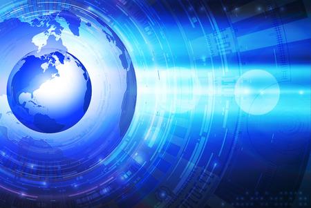 tech background: Fondo de tecnolog�a con globo