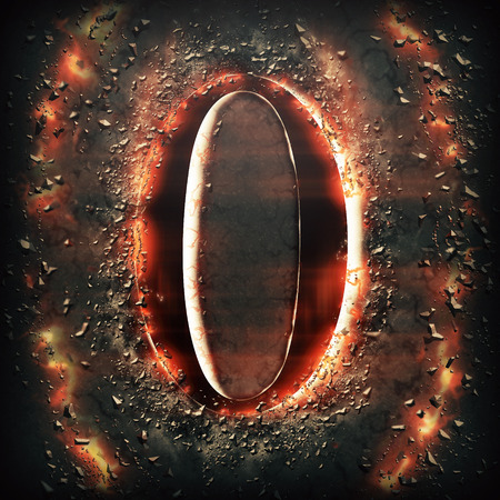 hot stones: Red light Digit 0
