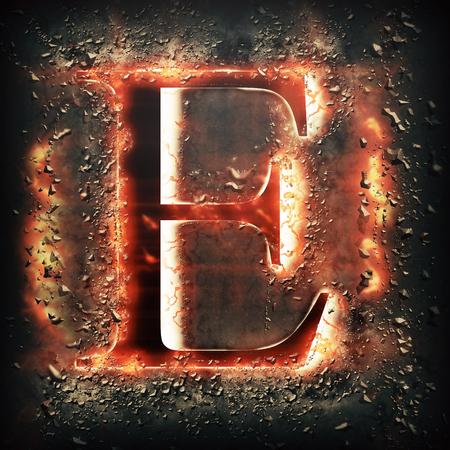 splinter: Red light letter E