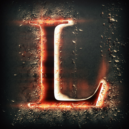 Red light letter L